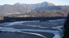 Tagliamento river Stock Footage
