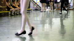 Dance school, girls who try choreography of a ballet Stock Footage