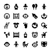 Baby and Kids Vector Icons - stock illustration