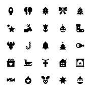 Christmas and Easter Vector Icons Stock Illustration