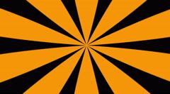 Orange and Black Sunburst Loop Background Stock Footage