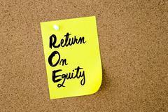 Business Acronym ROE Return On Equity Stock Photos