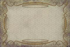 Antique Frame on Background With Texture - stock illustration