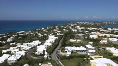 Scenic aerial view of Bermuda from the Gibbs Hill lighthouse. Stock Footage
