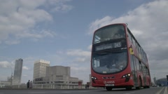 Red London Bus in SLOW MOTION | HD 1080 - stock footage