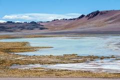 Cordillera de la Sal, west of San Pedro de Atacama, Atacama desert of Chile - stock photo