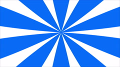Blue and White Sunburst Loop Background Stock Footage