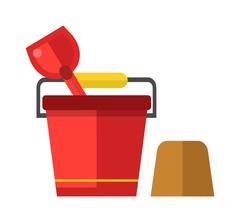 Child bucket vector illustration - stock illustration