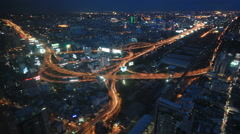 Cityscape timelapse at night. Busy traffic on the main road at rush hour. Stock Footage