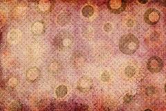 Dark Green and Brown Dots Texture with Squares Stock Illustration