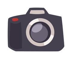 Digital flat photo camera on tripod technology vector - stock illustration