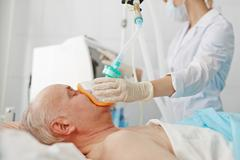 Anesthesia before operation - stock photo