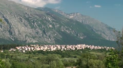Lama dei Peligni of the small town of Abruzzo Stock Footage