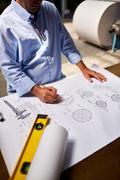 Sketching engineer Stock Photos