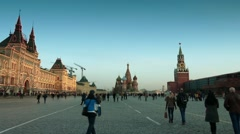 Red Square in Moscow, Russia - stock footage
