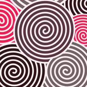 Spiral abstract background - stock illustration