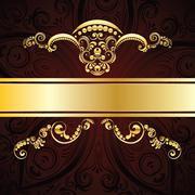Red Decorative Background - stock illustration