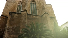 Church of Santa Margarita, Palma, Majorca, Spain - stock footage