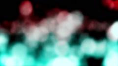 Bokeh Falling Red Green Rain Loop Background - stock footage