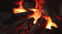 Flame of electronic fireplace - stock footage