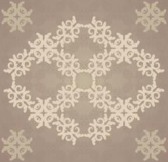 Vitage brown flourish pattern - stock illustration