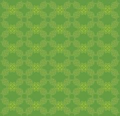 Vitage green flourish pattern - stock illustration
