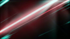 Diagonal Light Shine Rays Lines Green and Red Flickering Background - stock footage