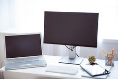 Variety of devices on the table - stock photo