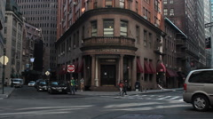 Delmonico's in historic downtown NYC. Stock Footage