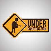 Under construction design. tool icon. isolated illustration - stock illustration