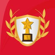 Champion design. winner icon. Colorful illustration - stock illustration