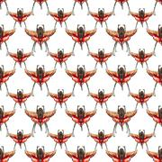 Insect Seamless Pattern Design Stock Illustration