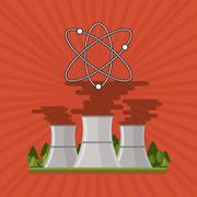 Industry design. Factory icon. Flat illustration - stock illustration