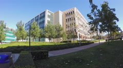 Buildings At University Of California Irvine Campus Zoom In 4K Stock Footage