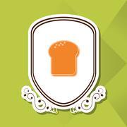 Bread icon design , vector illustration Stock Illustration