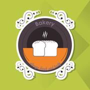 Bread icon design , vector illustration - stock illustration