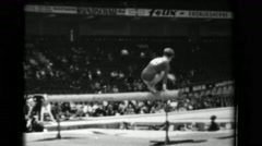 1966: Larisa Petrik Soviet Union women's balance beam 16th Artistic Gymnastics - stock footage