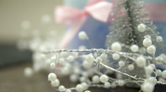 Winter Christmas and new year decoration Stock Footage