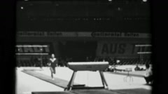 1966: Keiko Tanaka-Ikeda Japan women's vault 16th Artistic Gymnastics World - stock footage