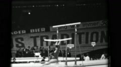 1966: Taniko Nakamura-Mitsukuri Japan women's uneven bars 16th Artistic - stock footage