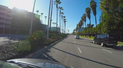 POV Car Driving In Corporate Business District - Irvine Stock Footage