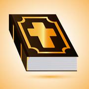 Bible design. Book icon. Flat illustration - stock illustration
