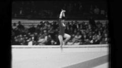 1966: Keiko Tanaka-Ikeda Japan women's floor exercise 16th Artistic Gymnastics Stock Footage
