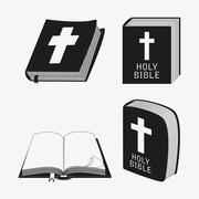 Bible design. Book icon. Flat illustration Stock Illustration