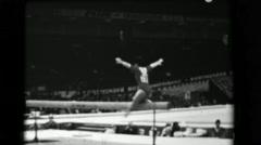 1966: Keiko Tanaka-Ikeda Japan women's balance beam 16th Artistic Gymnastics Stock Footage