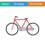 Ecological bike icon Stock Illustration