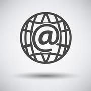 Global e-mail icon - stock illustration