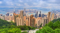 Hong Kong Cityscape High Viewpoint Of The Peak Time Lapse Stock Footage