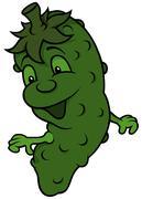 Happy Cucumber Stock Illustration