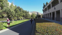 University Of California Irvine Students Walking Between Classes Stock Footage